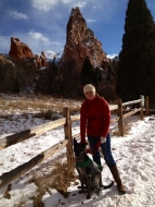 Asher and I at Garden of the Gods, 2013