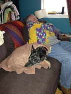 Asher and My Dad doing what they do best over the holidays