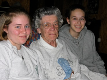 Shelby, Haley + Great Grandma Dorothy March 2004