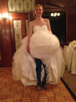 Bride in her Blue tights!