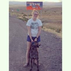 At the Utah State Line! Bye Colorado!