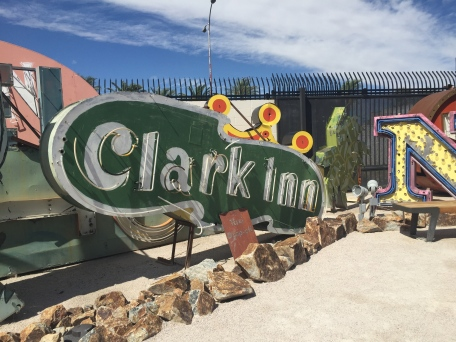 Clark Inn sign, spelled wrong of course