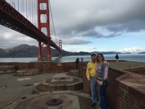 Mom and Dad on Fort Point at Golden Gate