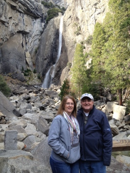 Mom and Dad at Yosemite Falls