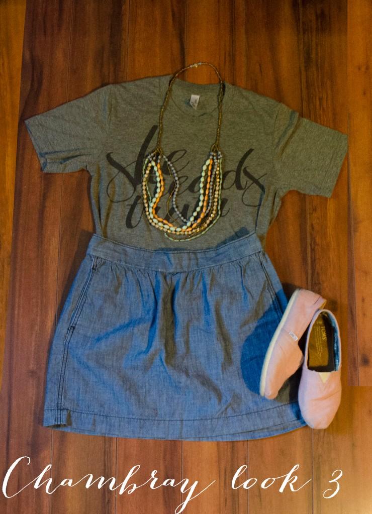 Wear it Wednesday |chambray 3