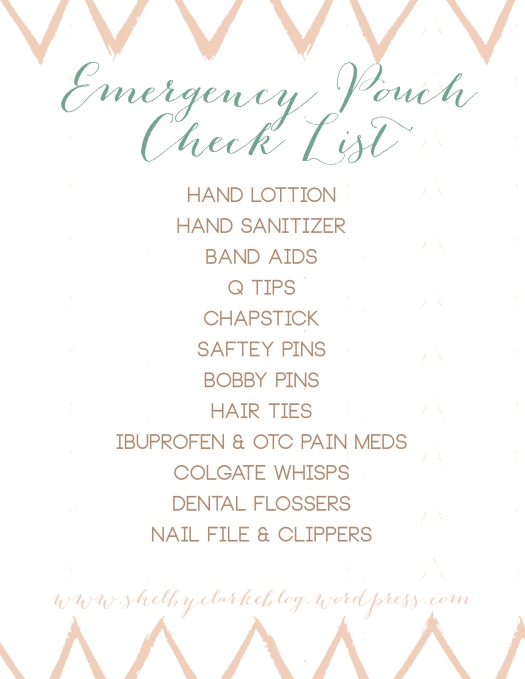 Emergency Pouch Check List