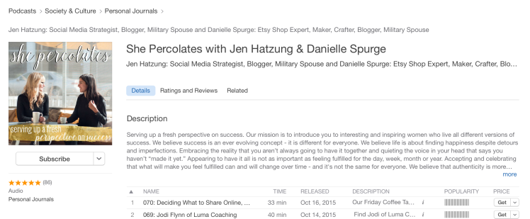 She Percolates Inspirational Podcasts
