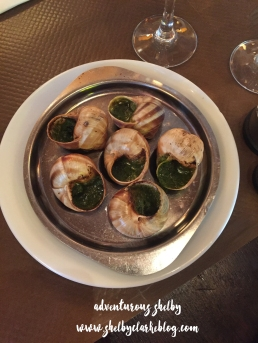 Having Escargot!