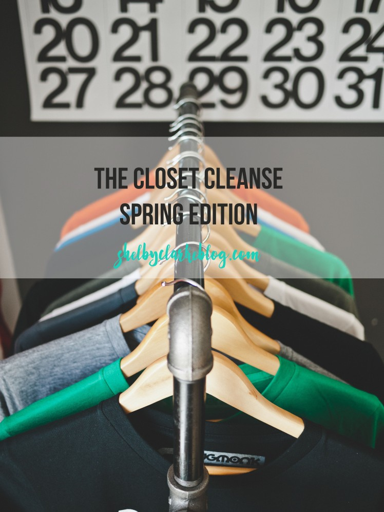 The closet cleanse spring edition on Adventurous Shelby