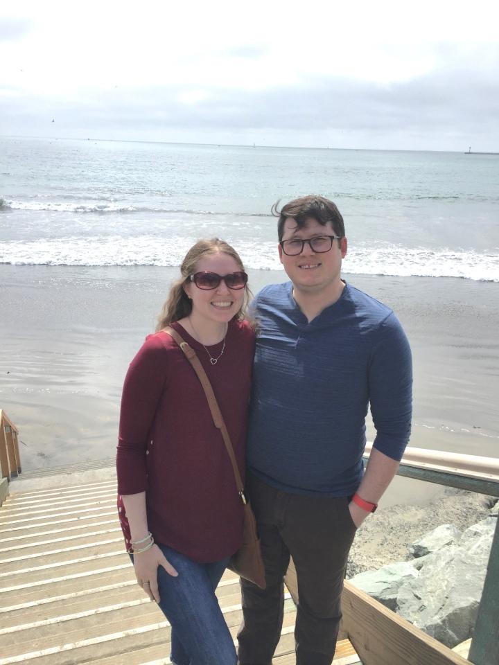 Me & Travis at Half Moon Bay