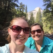 Shelby, Kendra, and Half Dome