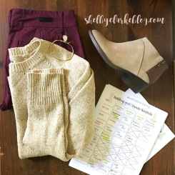 October 2016 Capsule Wardrobe Adventurous Shelby