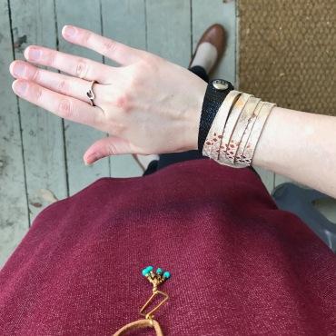 Flourish Leather sliced cuff