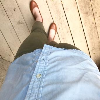 Olive Crop Pants