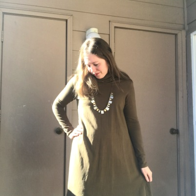 Turtleneck Swing in Olive