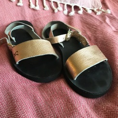 Sseko Designs Design Your Dream Sandal, Rue with rose gold and black sole