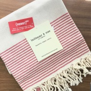 A Balthazar & Rose red Fouta